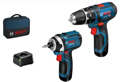 Picture of Bosch GDR 12-105 + GSB 12V (2 x 2.0Ah Batteries, charger, Kitbox)
