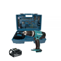 Makita DHP453FX12 Cordless 18V LXT Combi Drill Set with 101PC Accessories and Carry Case