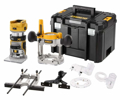 """Picture of DeWalt DCW604NT-XJ 18v XR Li-ion Brushless 1/4"""" Router (Bare Unit with Fixed & Plunge Bases)"""